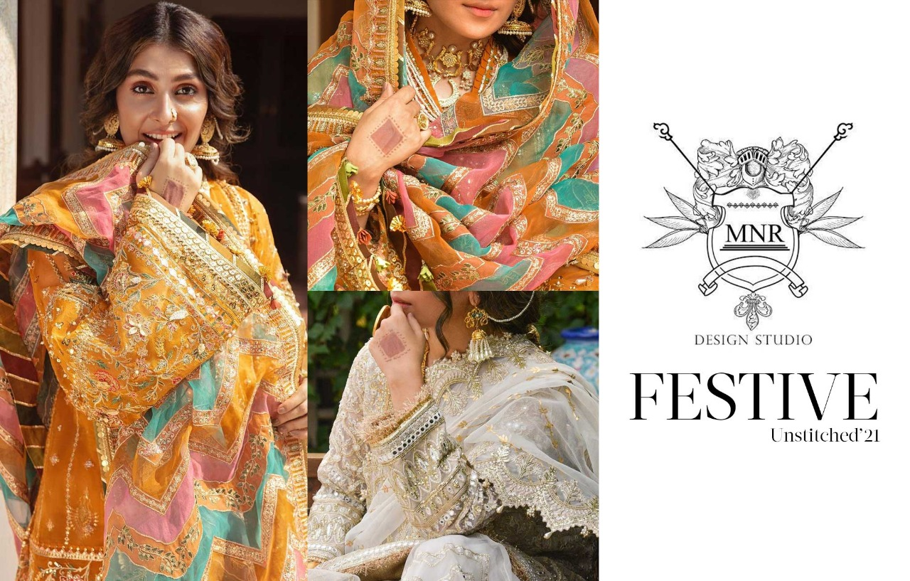 Festive Unstitched 21 By Mohsin Naveed Ranjha- Time To Look Drop Dead Gorgeous!