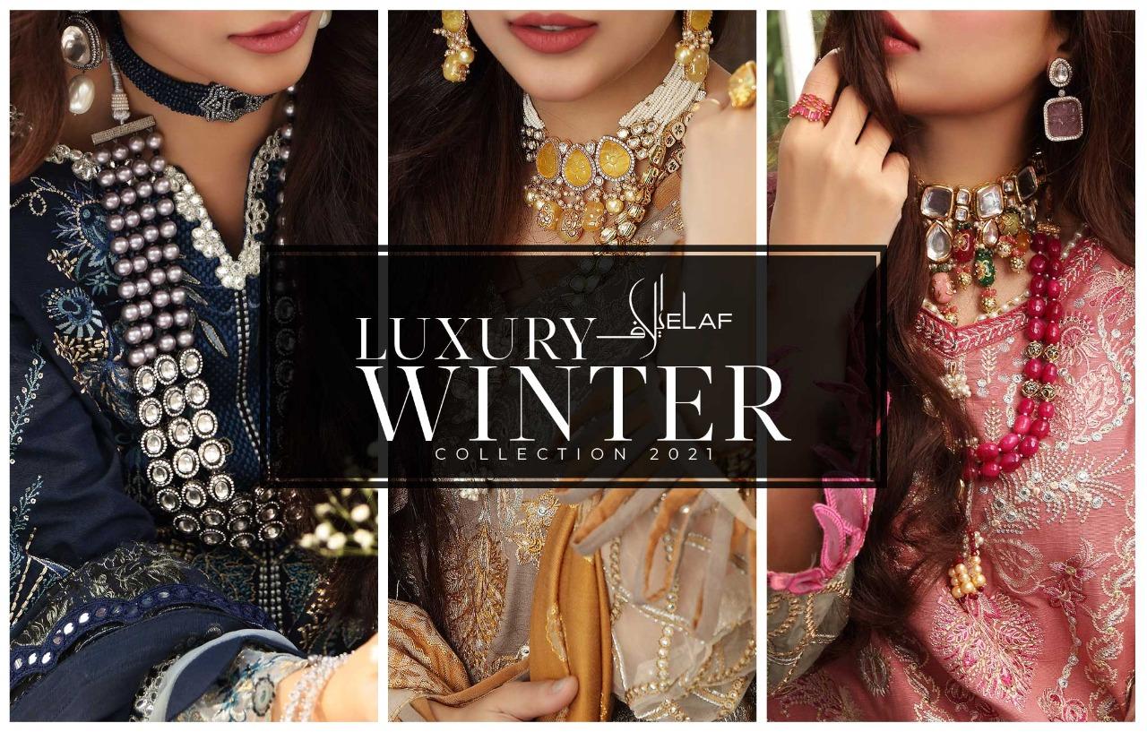 Elaf Luxury Winter Collection 2021- A Classy Taste Of Winter Season